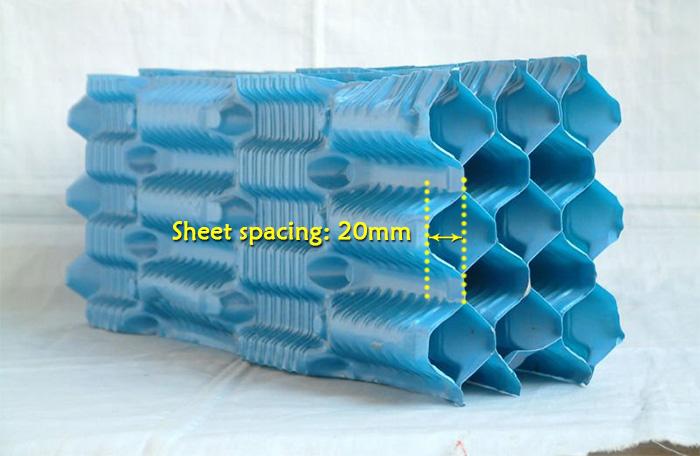 Offset-fluted-film-fill-media-Sheet-spacing