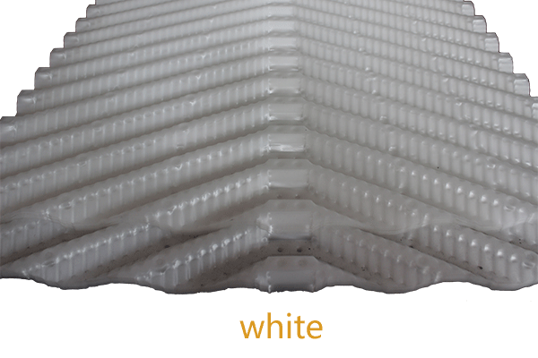 white Oblique cooling tower fill